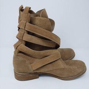 GIANNA BINI Suede Buckle Boots